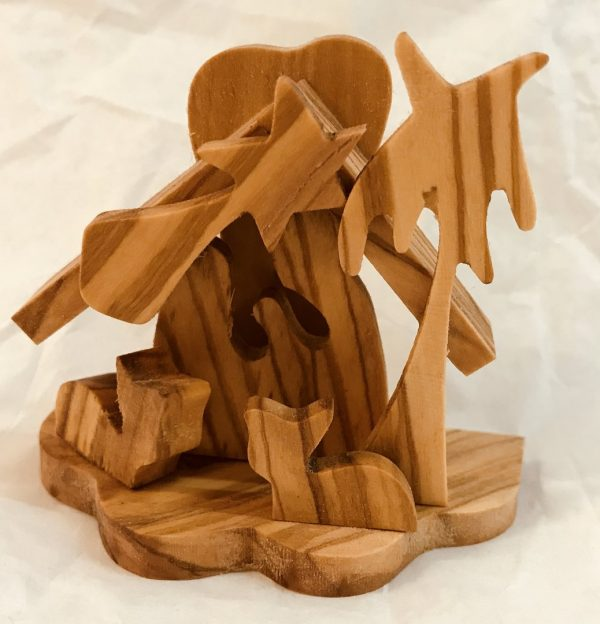 Presepe in legno d'olivo cm 5,5