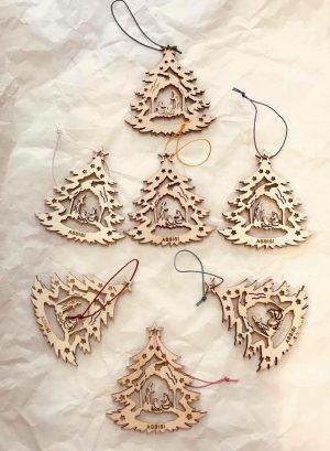 Decoro natalizio in legno